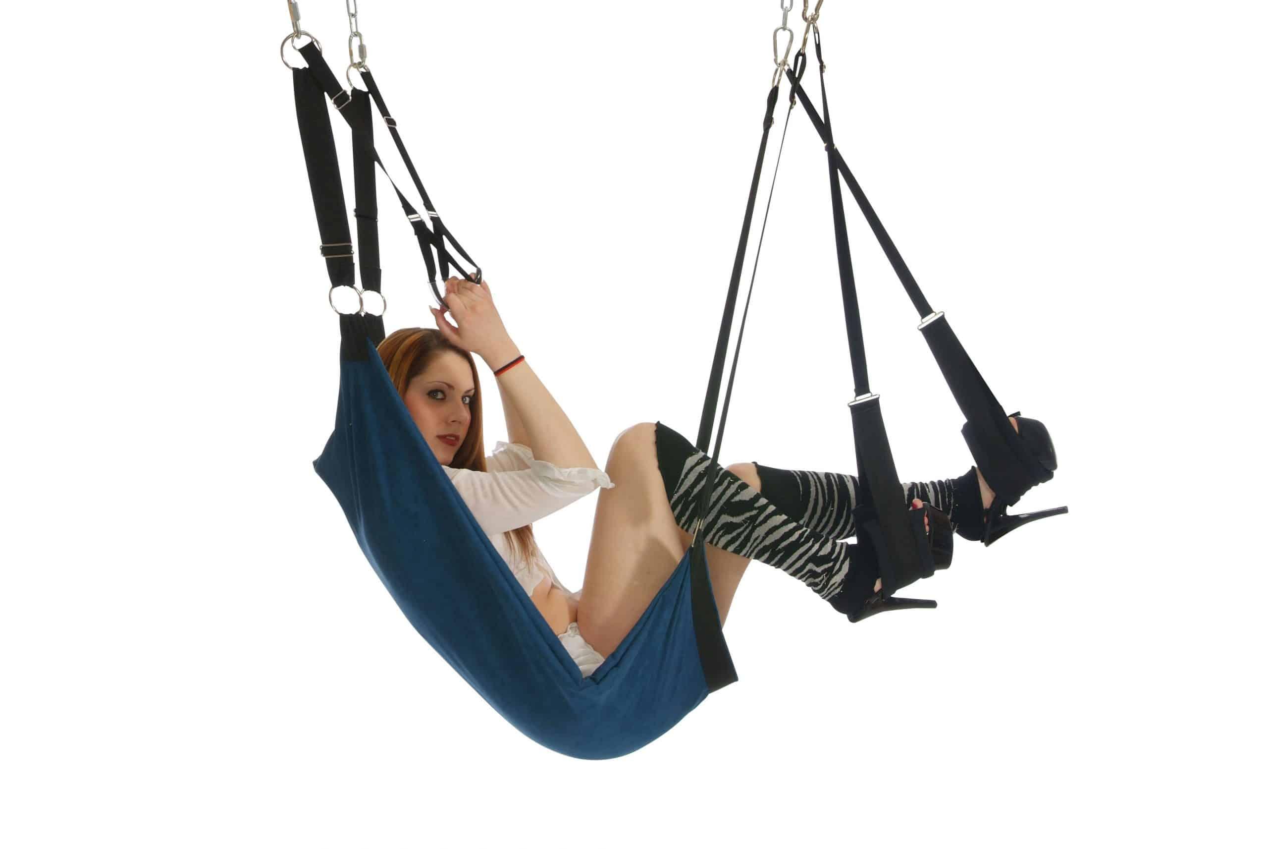 Web leather sex sling