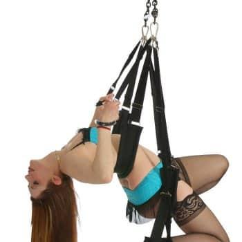 Girl in Single Hook Sex Swing