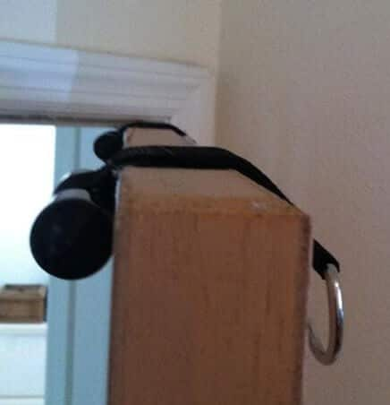 place door kit on door